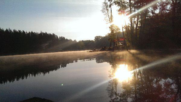 утро на озере трофейном