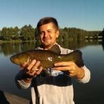 Линь , поймали линя , рыбалка на линя